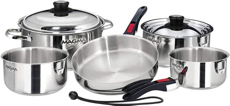 cookware magma pans pots electric nesting stainless steel piece ceramic gas cooktops cooking a10 360l stove galley gourmet