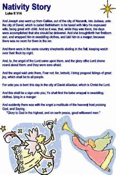 there was a child went forth template nativity story