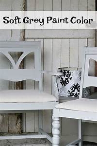 The Sweetest Soft Grey Paint Color For Dining Chairs Makeover