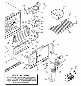 Freezer Section Diagram  U0026 Parts List For Model Sts22icmarww Ge