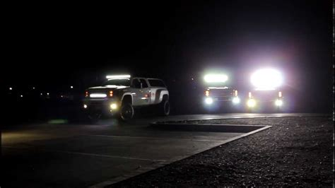 jeep light bar at night light mounting bars for trucks images