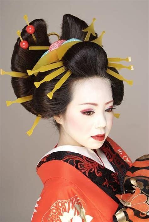 oiran hairstyle  kanzashi japanese hairstyle geisha