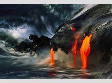 lava, Volcano, Sea, Hawaii, Island, Nature, Landscape