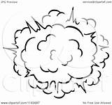 Explosion Comic Poof Clipart Burst Vector Illustration Royalty Tradition Sm Coloring Pages Template sketch template