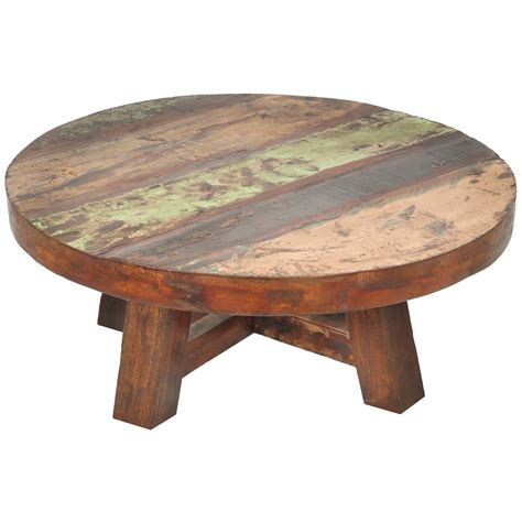 round distressed wood coffee table beautiful reclaimed creating distressed wood coffee table