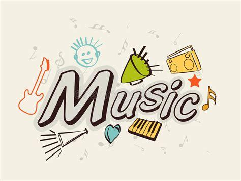 testo modà note di musica 3d con il nastro illustrazione vettoriale