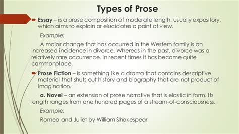examples  prose poetry world