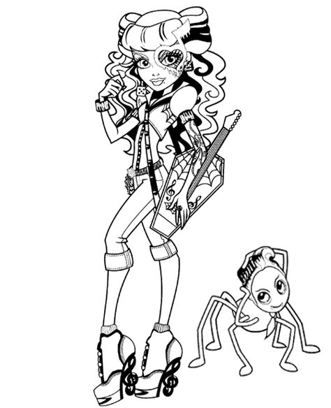 High quality Monster High colouring pages 29 to print for free