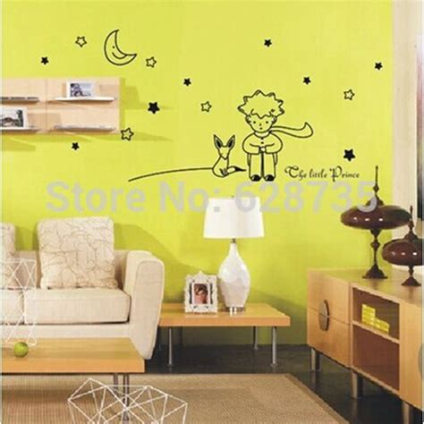 free shipping the prince wall decals large size 98x41cm removable prince and the fox wall