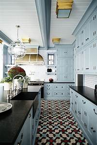 30 tile flooring ideas with pros and cons digsdigs for Kitchen cabinet trends 2018 combined with wall ceramic art