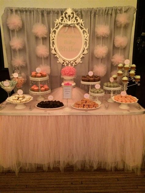 baby shower table baby shower dessert table by bizzie bee creations frozen party pinterest dessert table