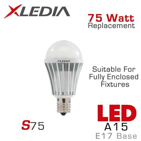 xledia 75 watt equal led light bulb e17 base earthled