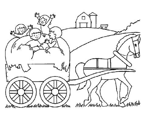 Kleurplaat Paard En Wagen by Paard En Wagen Kleurplaat Het Huisje Dat Verhuisde