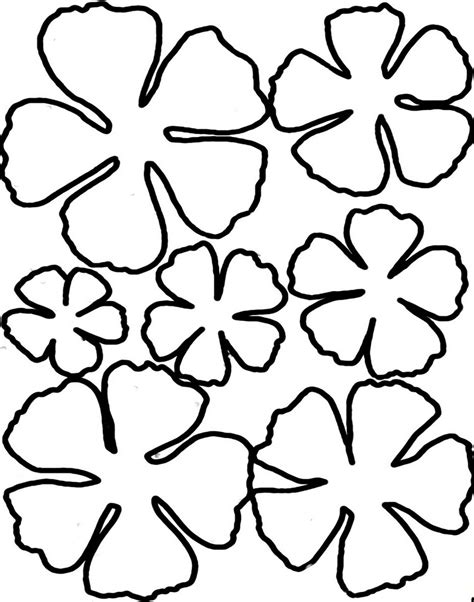 free printable paper flower templates printable flower petal template clipart best