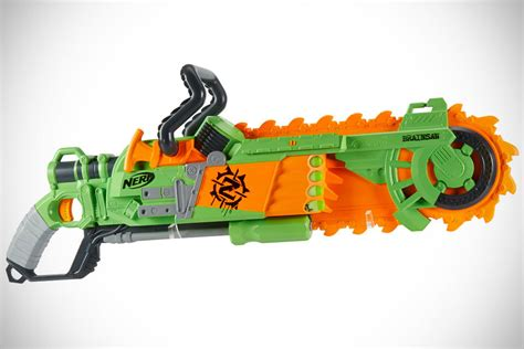 nerf zombie strike brainsaw blaster guns toy doomlands apocalypse double blasters foam chainsaw dealer releasing gun toys slaying starts young