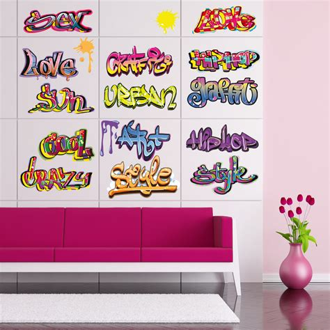 Wandtattoo Kinderzimmer Graffiti by Wandtattoos Folies Wandtattoo Graffiti Set