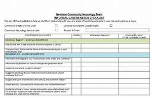 Informal Carers U2019 Checklist  U2013 Newham Community Neurology