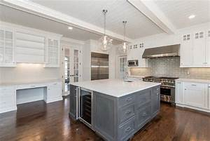 Square Kitchen Island - Transitional - kitchen - Jillian