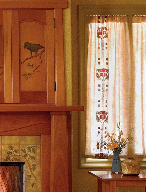 easy craftsman era curtains arts crafts homes