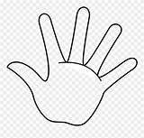 Clipart Finger Clip Outline Handprint Printable Template Fingers Coloring Remember Rule Middle Pinclipart Clipground Transparent Report sketch template