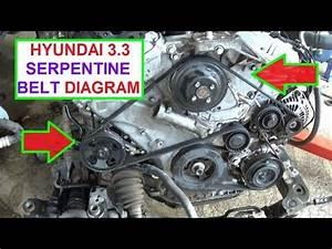 2007 Hyundai Santa Fe 3 3 Serpentine Belt Diagram