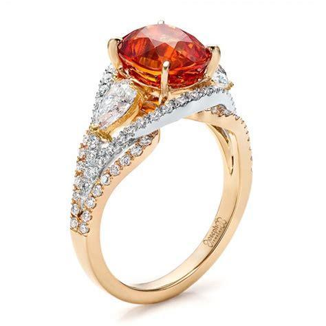 Custom Orange Sapphire Engagement Ring #100117  Seattle. Grace Lee Engagement Rings. 24kt Gold Wedding Rings. Birthday Gift Wedding Rings. Gypsy Rings. Maple Rings. Halo Engagement Rings. Ashley Hebert Engagement Rings. Mini Rings