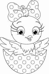 Coloring Chicken sketch template