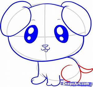 How To Draw A Cute Puppy For Kids Step By Project - Litle Pups
