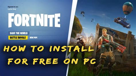 how to install fortnite battle royale free to pc windows 10 8 7
