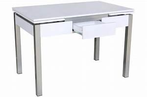 Table Extensible Grise : table en acier blanche et grise extensible york design pas cher sur sofactory ~ Teatrodelosmanantiales.com Idées de Décoration