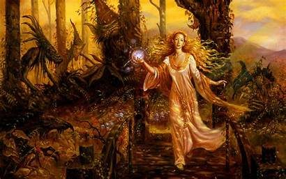 Witch Witches Background Goblins Fantasy Autumn Wallpapers
