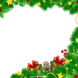 commercial christmas decorations christmas frame with leaves vector free