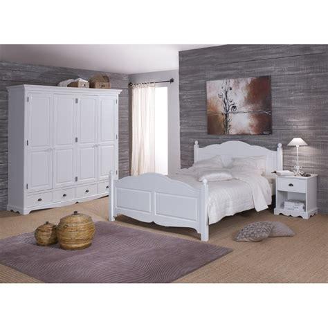 chambre blanche compl 232 te lit 160 armoire chevet beaux meubles pas chers