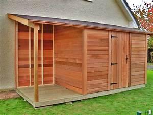 le plan de votre projet abri cabane sur mesure le With faire un abri de jardin soi meme