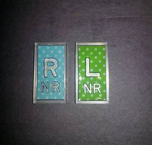 set of x ray markers with initials polka dot lead letters With x ray letter markers