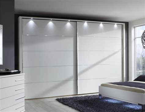 Big Wardrobe by Stylform Eos 200 400cm Matt White Sliding Door Wardrobe