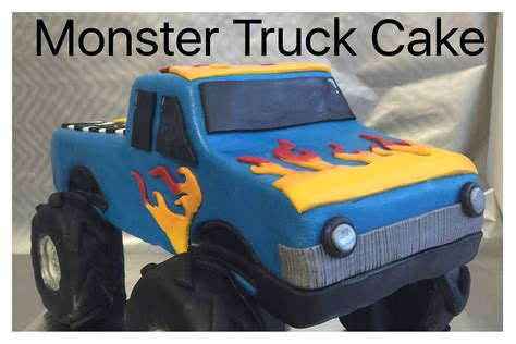 monster truck cake   eat monster