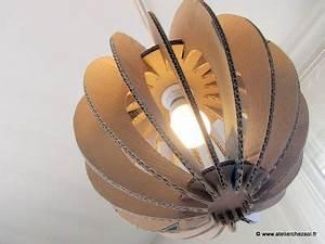 Boule Papier Luminaire : nouveau luminaire en carton les 3 boules lumi2 atelierchezsoi ~ Teatrodelosmanantiales.com Idées de Décoration