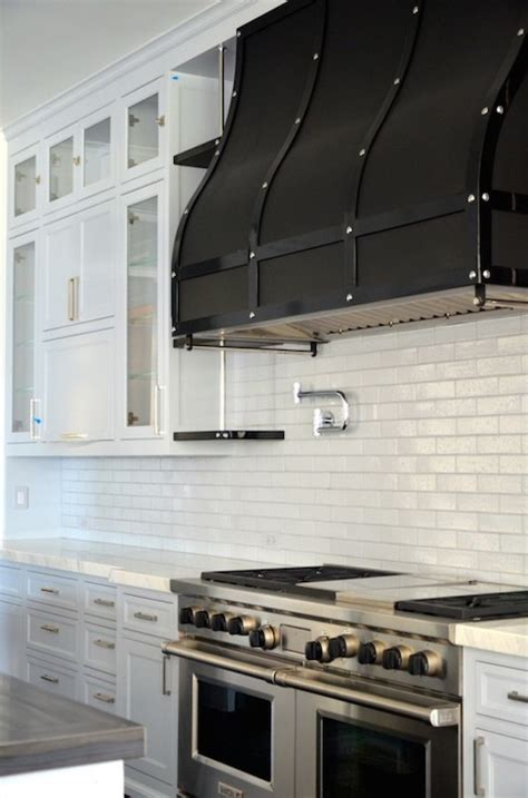 Black Range Hood   Transitional   kitchen   RT Abbott