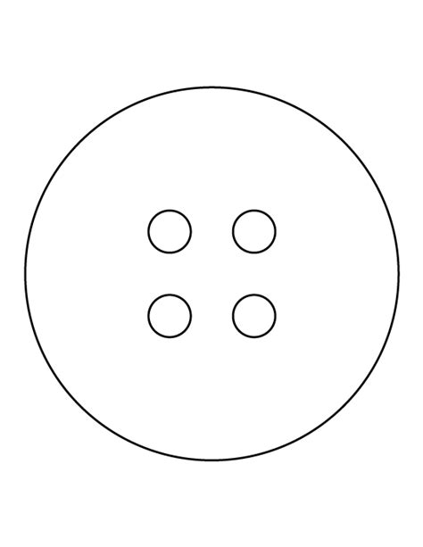 Button Template Button Pattern Use The Printable Outline For Crafts
