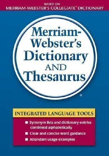 merriam websters dictionary  thesaurus