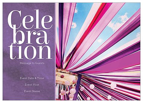 ribbon celebration invitation card design templates