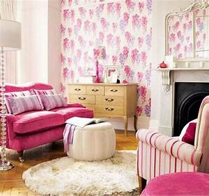 25 classy and cheerful pink room decor ideas home furniture for Pink accessories for living room