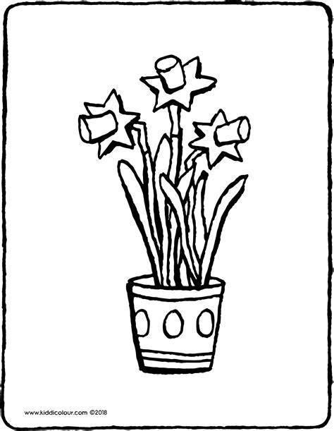 Kleurplaat Je Eien Zeepbel by Osterglocken Im Blumentopf Kiddimalseite