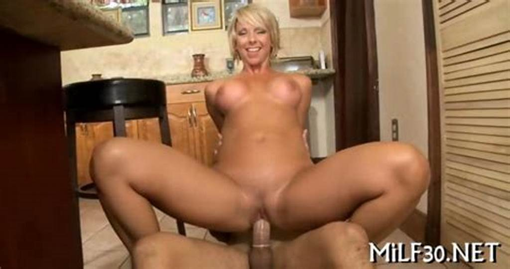 #Short #Hair #Blonde #Milf #Sliding #On #A #Fat #Young #Dick #On