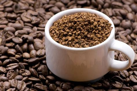 I love smelling the aroma of coffee early in the morning. Coffee granules stock image. Image of seed, granular, granules - 5540313