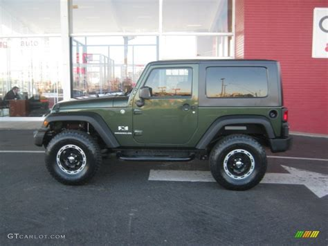 jeep metallic 2008 jeep green metallic jeep wrangler x 4x4 56609914