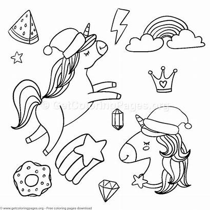 Unicorn Coloring Getcoloringpages Birthday Adult Hippo Cake
