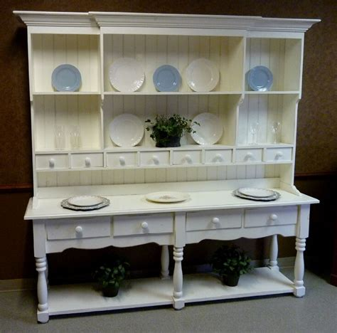 large pine french farmhouse wide hutch beaded board