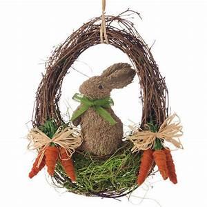"""W3552272 RAZ 17 5"""" Easter Rabbit Bunny Grapevine Twig"""